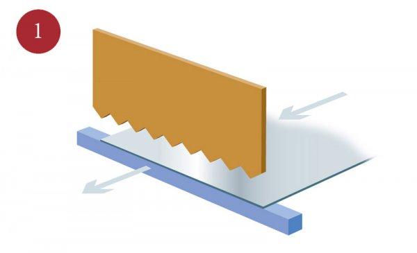 Tillverkning av sträckmetall Steg 1