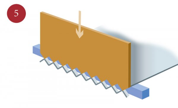 Production of expanded metal step five
