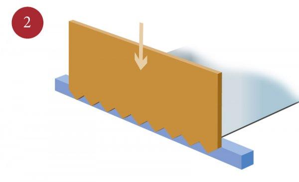 Tillverkning av sträckmetall Steg 2