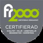 Certiferings märke f2000